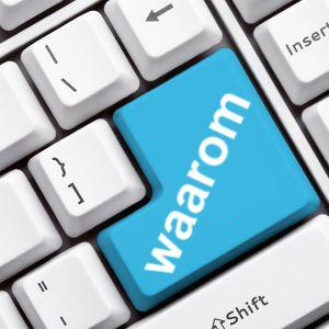 toetsenbord met de toets 'waarom' met betrekking tot web-toegankelijkheid
