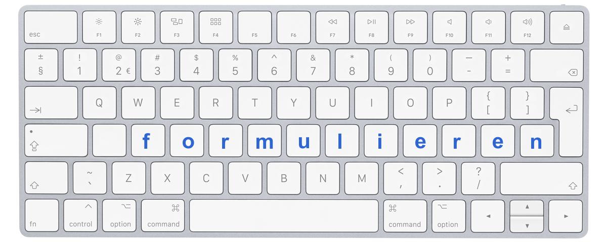 """Afbeelding toetsenbord met letters """"formulieren"""""""