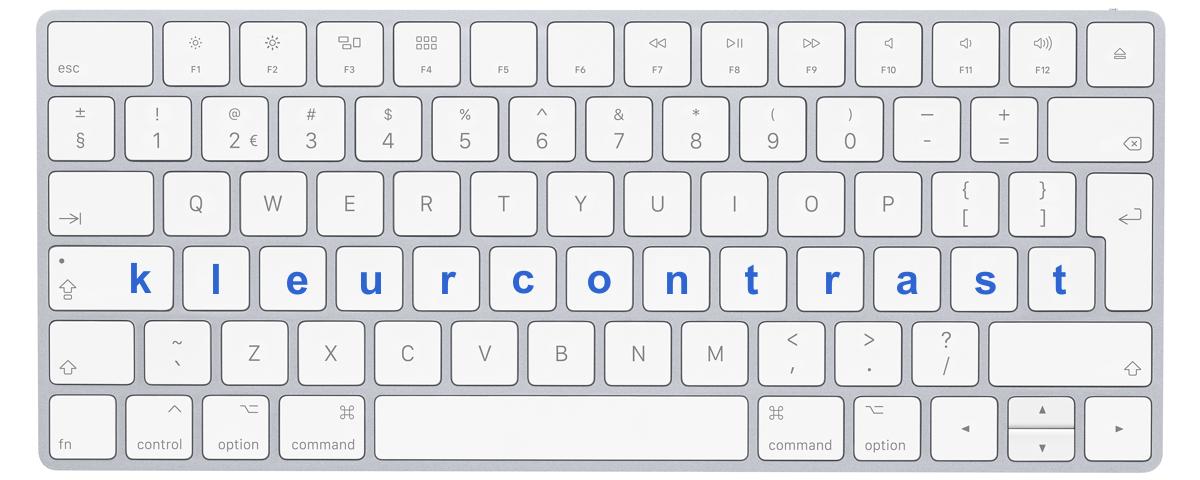 "Afbeelding toetsenbord met letters ""kleurcontrasten"""