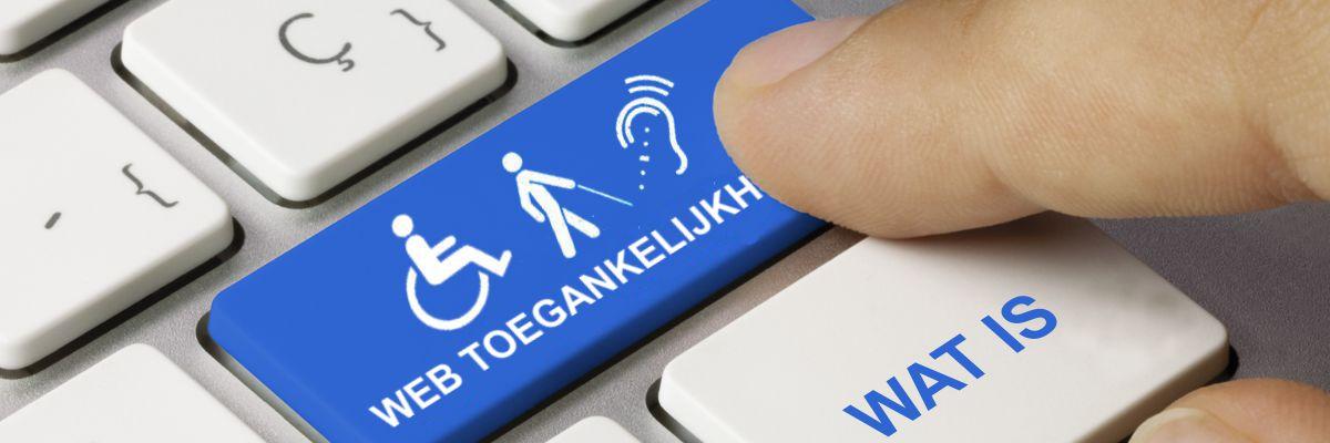 """toetsenbord web toegankelijkheid met tekst """"wat is"""""""