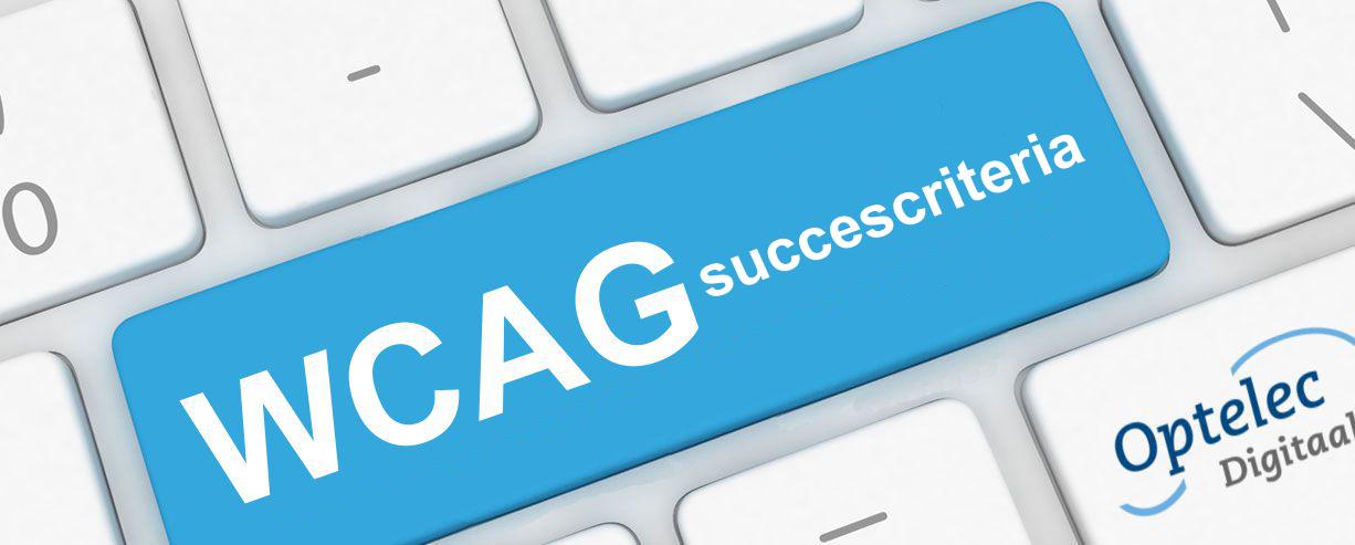 toetsenbord met toets 'WCAG succescriteria'
